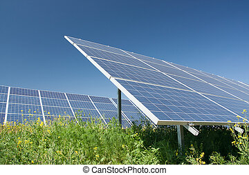 Solar power station - alternative energy
