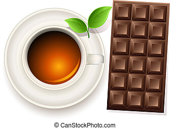 cup of tea and chocolate