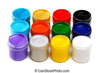 Set of acrylic paints for painting fabrics - Set of acrylic...