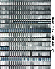 Glass facade of office building - background of glass facade...