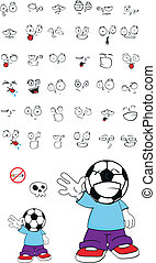 soccer kid cartoon set9 - soccer kid cartoon set in vector...