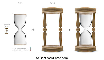 Blank hourglass for your own designs - you can put inside...