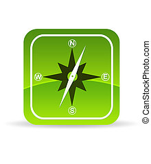 Green Compass Icon - High resolution green compass icon on...