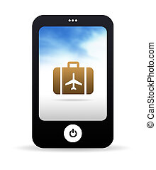 Travel Mobile Phone - High resolution Mobile phone graphic...