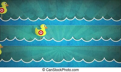Shooting Duck Gallery HD - Computer generated animation of a...
