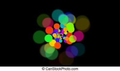 abstract colorful circles loop
