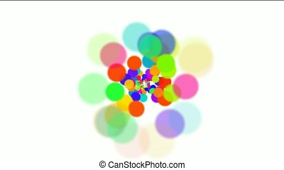 dancing dots and particles,abstract colorful circles...