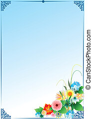 Template greeting card with place