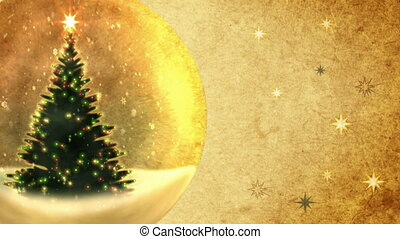 Christmas tree in a crystal ball. - Christmas tree in a...