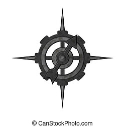 compass - abstract compass on white background - 3d...