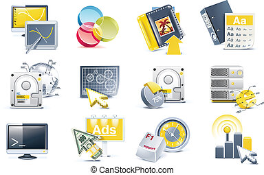 Vector website development icon set - Set of web-page...