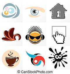 Design Logo 1 - Assorted abstract logos and id design...