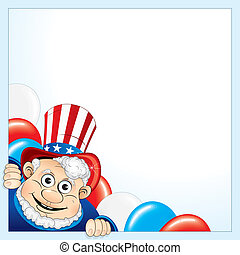 Sam Poster - Uncle Sam background for your text