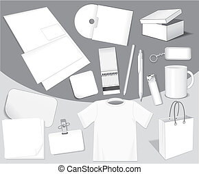 Blank isolated objects