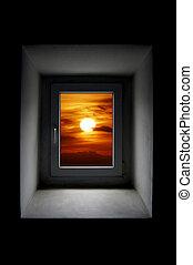 窗口, 太陽