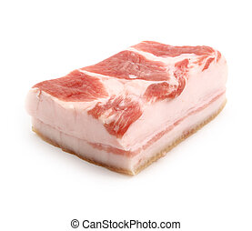Tenderloin of lard - Tenderloin of fresh lard. Element of...