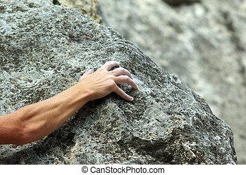 登山運動員, 岩石