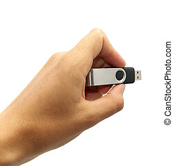 Flash drive in hand Element of design