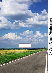 Billboard and long road Element of design