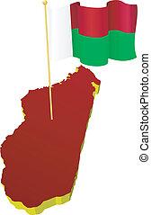 image map of Madagascar