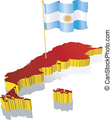 image map of Argentina