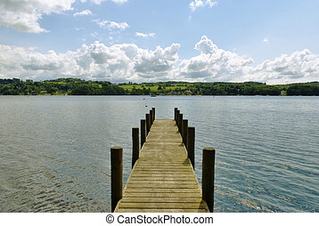 Jetty on Windermere - A Jetty on Windermere on a bright day.