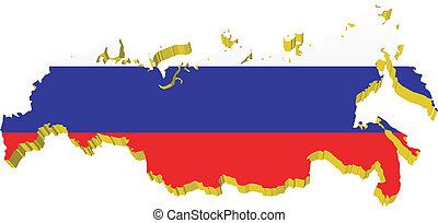 vectors 3D map of Russia
