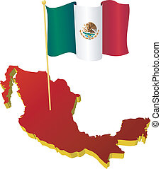 image map of Mexico