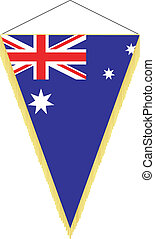 national flag of Australia - vector pennant with the...