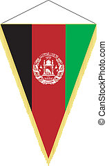 national flag of Afghanistan - vector pennant with the...