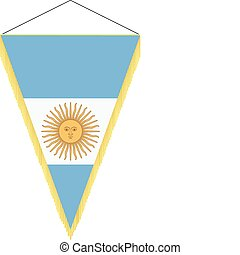 national flag of Argentina - vector pennant with the...
