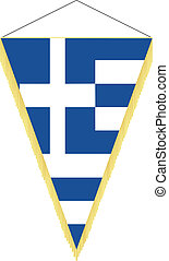 national flag of Greece - vector pennant with the national...
