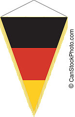 national flag of Germany - vector image of a pennant with...