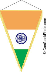 national flag of India - vector image of a pennant with the...