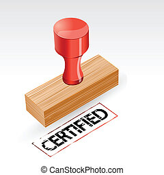 Certified Stamp - illustration of stamp with certified...