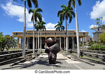 Havaí, estado, capitol, predios