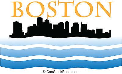 boston skyline W - boston skyline