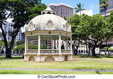 Royal Bandstand, Honolulu, Hawaii - Royal Bandstand on the...