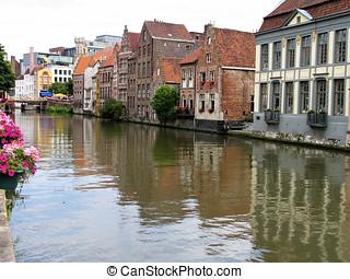 Street view of Ghent, Belgium.