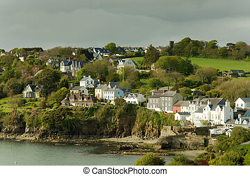 Seaside Irish houses - View of seaside houses at Killarney,...
