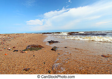 Lake Superior Beach in Michigan
