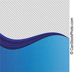 Abstract blue wave - An abstract blue wave dividing two...