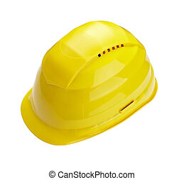 construction helmet protective workwear - close up of a...