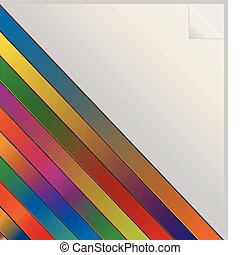 Rainbow colored sticker - Illustration of diagonal rainbow...