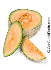 Cantaloupe fruit - The beautiful cantaloupe is often used to...
