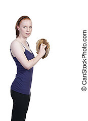 Woman Baseball Player - A beautiful woman baseball pitcher...