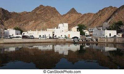 Mutrah, old part of Muscat - Buldings in Mutrah, the old...