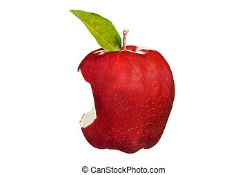 Red apple bite - A fresh, delicious red apple has a giant...