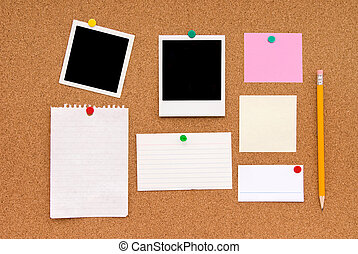 Message cork board - A montage of colored sticky notes and...