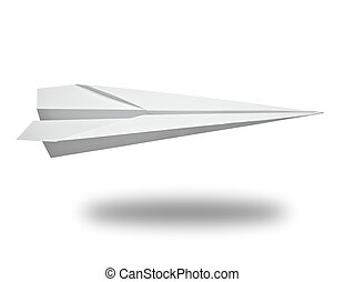 paper airplane transportation - close up of a paper airplane...